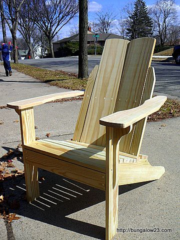 Adirondack chair assembled