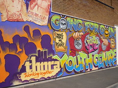 Thura - working together (lydia_shiningbrightly) Tags: streetart youth graffiti community communitycentre coventry youthcentre housingestates thura tilehill