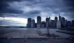 Revisted (davidfigueroa.) Tags: nyc newyorkcity urban home dark still cloudy ominous brooklynheights bigapple darkclouds bluehues canon40d harbringerofglobalcollapse