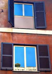 Window (Alterkicks) Tags: windows sky italy rome tree window europe shutters builiding