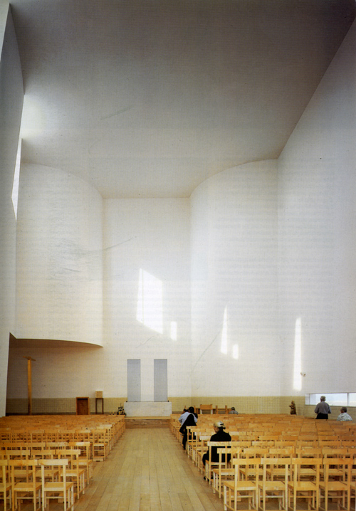 Church, Portugal, by Alvaro Siza - interior