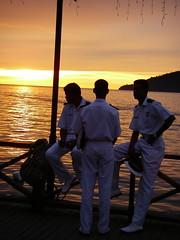海軍看夕陽