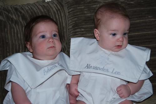 Alex and Adam ready for baptism
