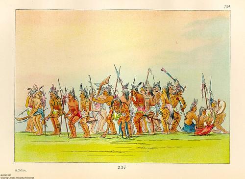 020- Danza del perro en el fuerte Snelling- George Catlin 1841
