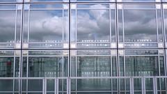 Glass, steel, air, water