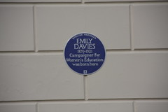 Photo of Emily Davies blue plaque