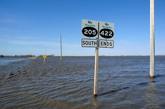 Red River Valley Overland Flooding (Cee-Lo Knows) Tags: water book boat flooding farmland manitoba roadclosed redriver rejected redrivervalley rosenort overlandflooding stagathe