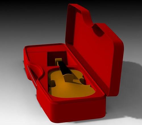 Calder REd violin down w