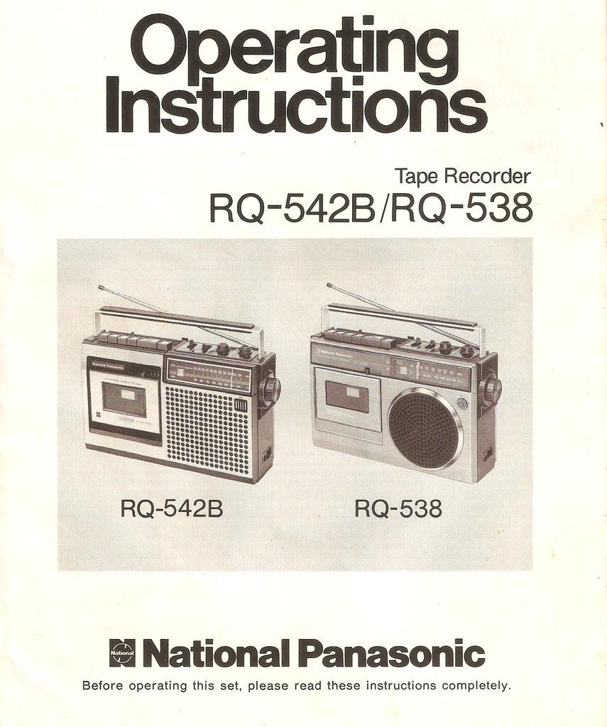 Operating Instructions - National Panasonic