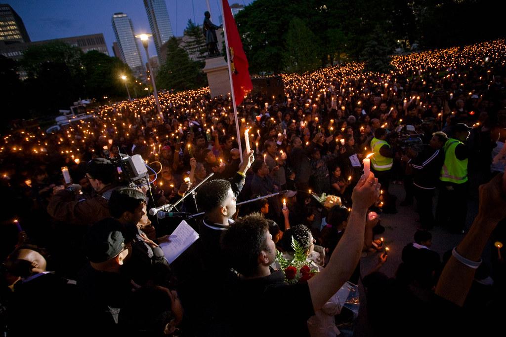 Tamil candlelight vigil