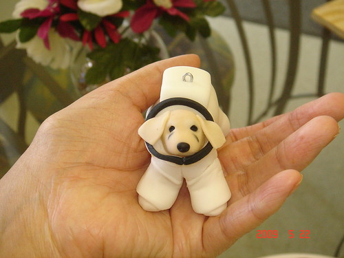 Fondant puppy from 'Space Buddies'