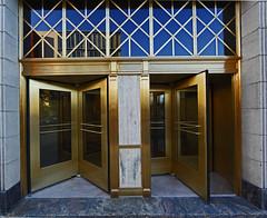 Brass Doors (Todd Ryburn) Tags: canon illinois downtown doors il bloomington brass entry revolving revolvingdoors bloomingtonillinois brassdoors canon5dmarkii dwwg canon14mmllens
