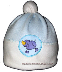 handmade fleece baby hat
