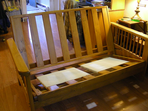 Frame of new couch (love seat, actually)