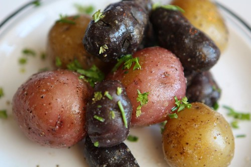 Boiled Baby Potatoes with Butter and Truffle Salt