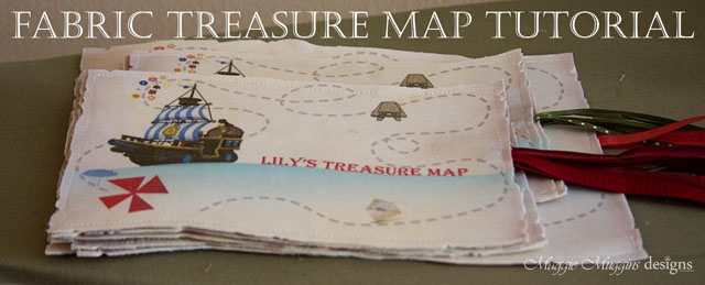 Fabric Treasure Map Tutorial