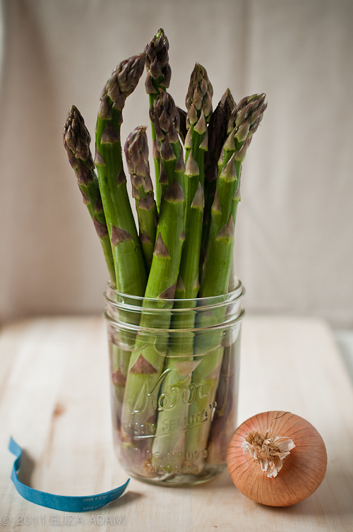 asparagus and onion