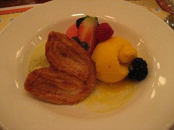 Assiette de Sorbets du jour et son palmier-Chefs de France
