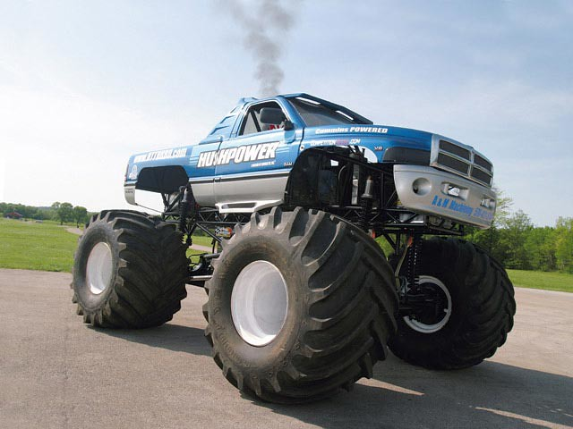 2002 monster truck dodge ram cummins