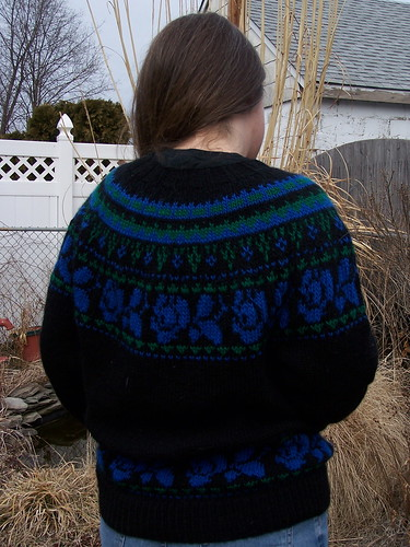 Engagement sweater back