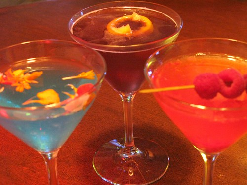 Trio of Astrology cocktails