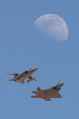 Two Birds, One Stone (Joe_Copalman) Tags: moon formation raptor f22 f3 lockheed tornado raf adv redflag nellis nellisafb panavia royalairforce 485 langleyafb rafleuchars exploredphotos rf093 exploredcrap