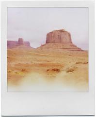 Monument Valley (George) Tags: landscape polaroid sx70 utah roadtrip oops monumentvalley
