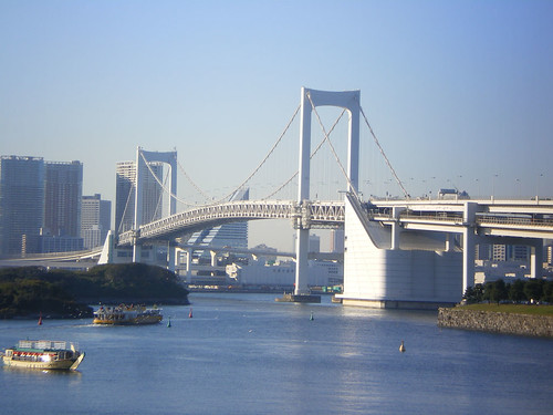 Puente Rainbow desde playa de Odaiba
