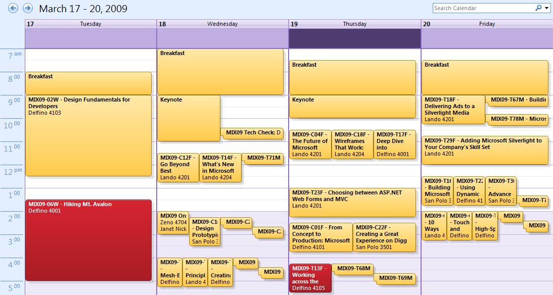 MIX Schedule