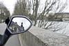 La géométrie enchaînée (janbat) Tags: man paris france tree water seine 35mm nikon eau scooter f2 reflectionsof d200 nikkor arbre quai hombre homme jbaudebert