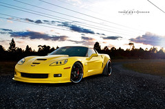 WideBody Corvette Z06 on 360 Forged CF 5 (360 Forged) Tags: road sunset sky yellow clouds nikon mesh florida miami 10 5 five sb600 sigma victory powerlines dirt mia ten straight fla corvette vette concave z06 hre d300 sb800 vossen hrewheels adv1 vossenwheels 360forged advanceone deepconcave adv1wheels adv05