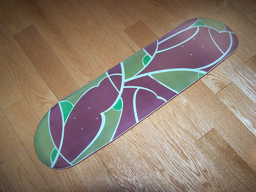 Art Nouveau Pattern Skateboard Deck