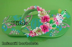 Borboleta Infantil (Hilldinha) Tags: flip havaianas flop sandal sandalias sandália customizadas sandaal bordadas pedrarias havaianascustomizadas chineloscustomizados sandaliascustomizadas