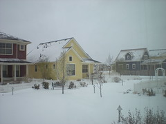 Our Garden Courtyard in a Snowstorm