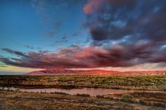 Albuquerque West Bluffs (Kevin Eddy) Tags: sunset river albuquerque citylights nm riogrande sandias top20nm