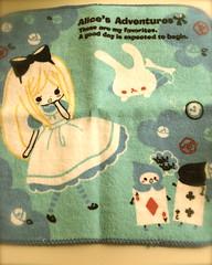 Wonderland (bunbunlife) Tags: cute japan hand alice towel kawaii bento wonderland washcloth kinkokunia