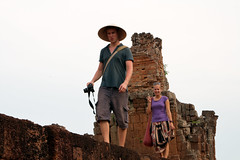 Waiting for the sunset at Preah Khan (Christian Haugen) Tags: travel temple cambodia khmer backpacking angkor backpacker rtw preahkhan aroundtheworld 175days