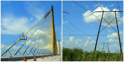 In bridge and power line supports...