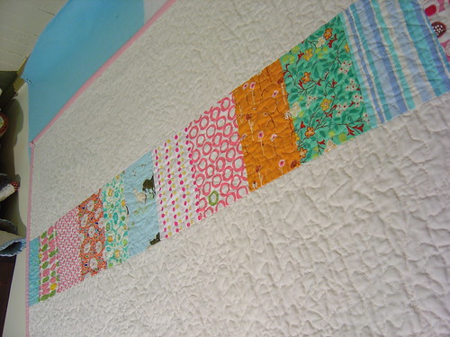 The Last Squares in Squares Quilt - back detail