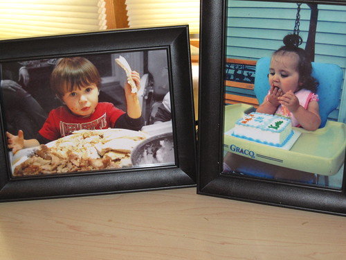 Pictures of my kids on my desk