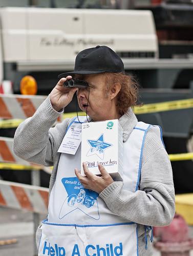 Blind Service Association Tag Day worker