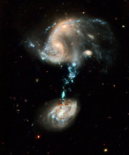 Hubble image of Arp 194