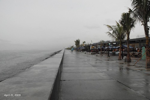 Manila waterfront in the rain