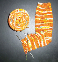 Yarn Chef - Moldy Jack O Lantern Socks