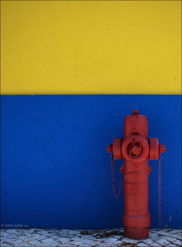 fireplug in fashionable colours (by julioc.)