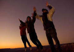 Grand Canyon Bliss (shannonmaria) Tags: sunset arizona sky people usa sun men boys nikon grand canyon flare d200