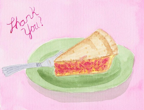 Pie thank you cards