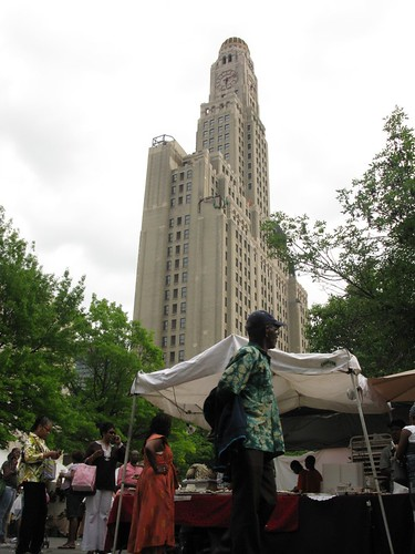 Williamsburg Savings Bank from African Street Festival