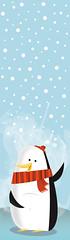 Penguin bookmark (medialunadegrasa) Tags: winter cold illustration children penguin vector bookmark