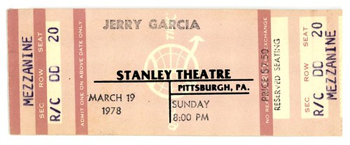 Jerry Garcia Band - 3/19/78 Stanley Theatre, Pittsburgh, Pennsylvania